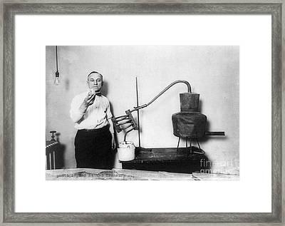 Moonshine Distillery, 1920s Framed Print