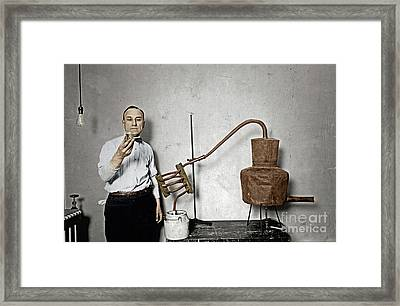 Moonshine Distillery Framed Print