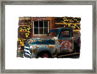 Moonshine Express Bordered Framed Print