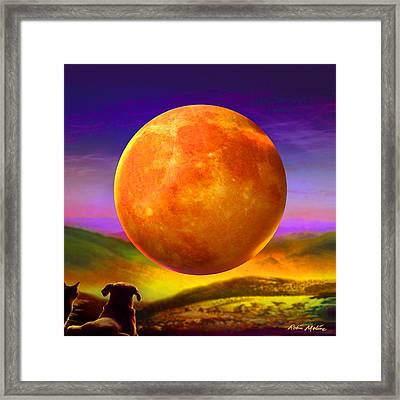 Framed Print featuring the painting Moonshine Forever by Robin Moline