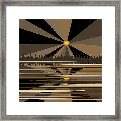 Moonshine Gold Framed Print