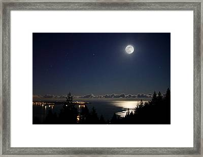 Moonshine Over English Bay Framed Print