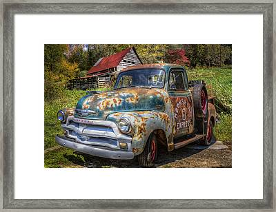 Moonshine Truck Framed Print by Debra and Dave Vanderlaan