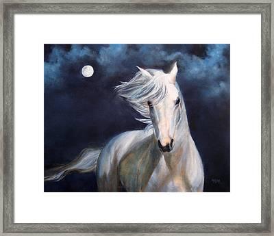 Moonsilver Framed Print by Marina Petro