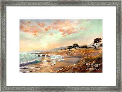 Moonstone Beach California Framed Print