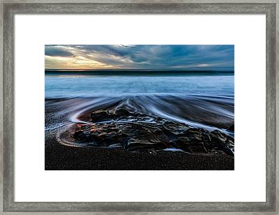 Moonstone Beach In The New Year Framed Print