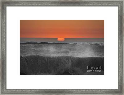 Moonstone Beach Sunset Framed Print