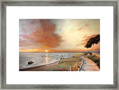 Moonstone Cambria Sunset Framed Print