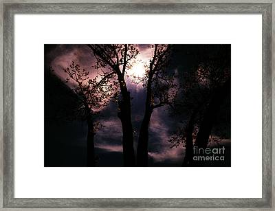 Moony Blues Framed Print