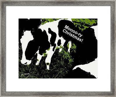 Moooory Christmas Framed Print by Ed Smith