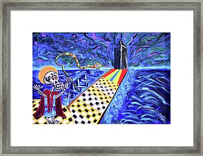 Moooshe And The Red Sea Framed Print
