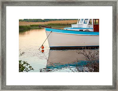 Moored Boat 2 Framed Print