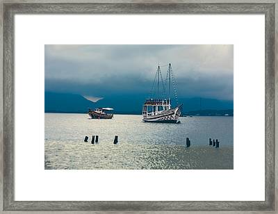 Framed Print featuring the photograph Moored Boats by Kim Wilson