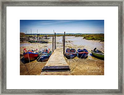 Moored Fishing Boats Framed Print