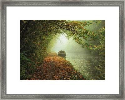 Moored In The Mist Framed Print by Chris Fletcher
