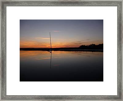 Framed Print featuring the photograph Moored Near Saint Marys by Joel Deutsch