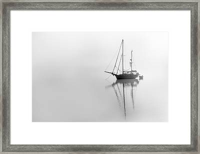 Moored On A Foggy Day Framed Print