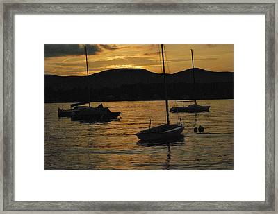 Moored Framed Print by Peter Williams