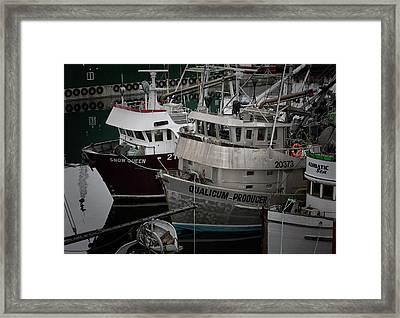 Moored Framed Print by Randy Hall