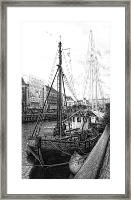 Moored Sail Framed Print by Dorothy Berry-Lound