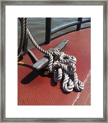 Mooring Rope Framed Print