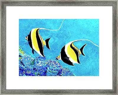 Moorish Idol Fish  #50 Framed Print by Donald k Hall