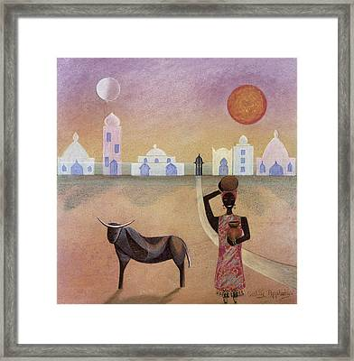 Moorish Ox Framed Print by Sally Appleby
