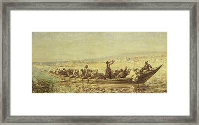 Moorish Rowers At Constantinople Framed Print by Felix Ziem
