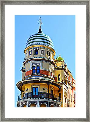 Moorish Tower With Hdr Processing Framed Print by Mary Machare