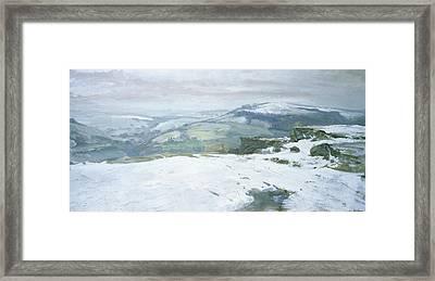 Moorland Framed Print by Charles Hardaker