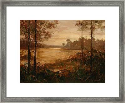 Moorlands At Dusk Framed Print by Bill Mather