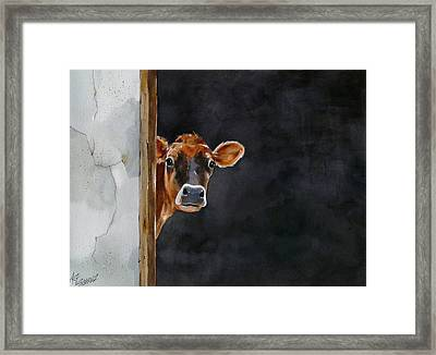 Moo's There? Framed Print by Art Scholz