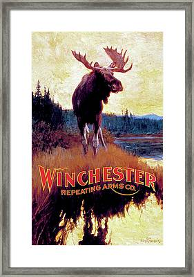 Moose Against Skyline Framed Print