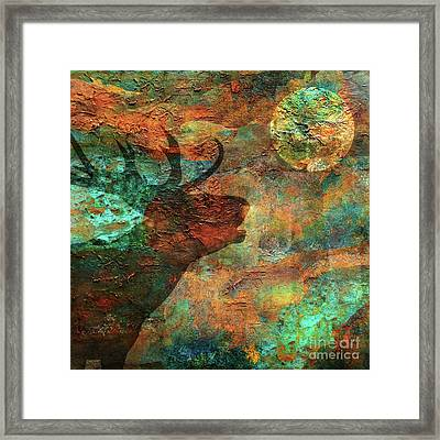 Moose Calls Framed Print by Mindy Sommers
