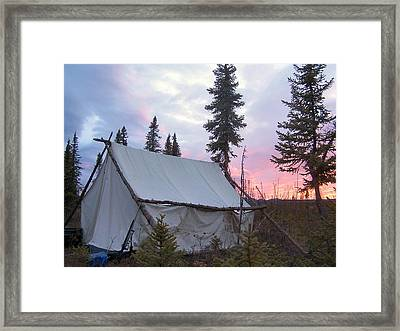 Framed Print featuring the photograph Moose Camp by Adam Owen