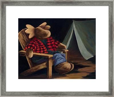 Moose Camp Framed Print