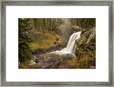 Framed Print featuring the photograph Moose Falls by Gary Lengyel