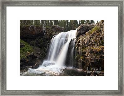 Moose Falls Yellowstone National Park Framed Print