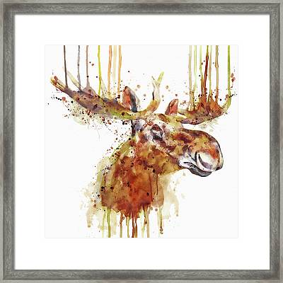 Moose Head Framed Print
