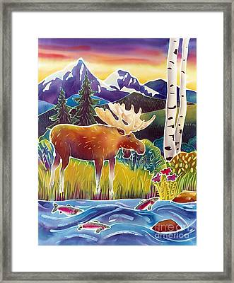 Moose On Trout Creek Framed Print