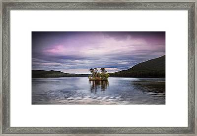 Moose Pond Maine Framed Print