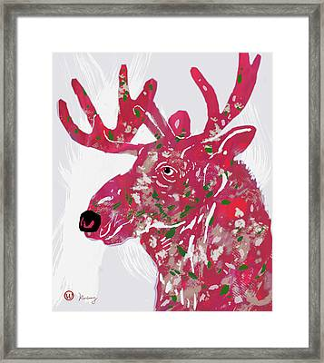 Moose - Pop Art Poster Framed Print