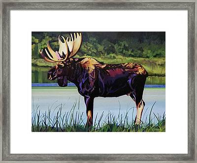 Moose River Framed Print by L V Fry