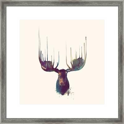 Moose // Squared Format Framed Print