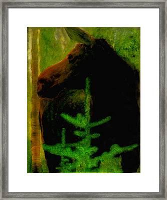 Moose Time Framed Print