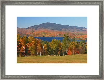 Moosehead Lake In Autumn Framed Print