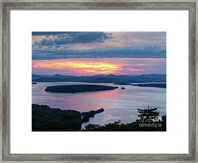 Mooselookmeguntic Lake In The Last Light Of Day - Rangeley Me  -63430 Framed Print