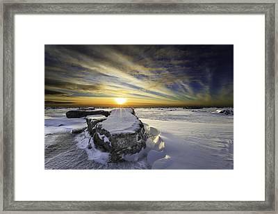 Mooses Tooth Framed Print by Ed Boudreau
