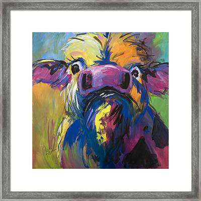 Moove Aside Framed Print by Terri Einer