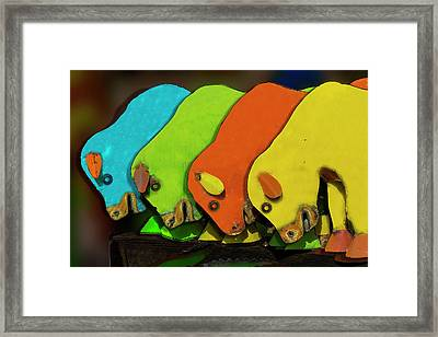 Framed Print featuring the photograph Mooving On by Paul Wear